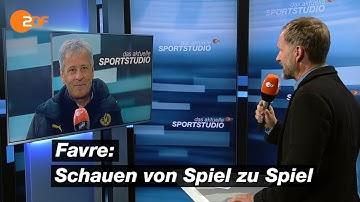 """Favre: """"Konzentriere mich auf das Wesentliche und mache meinen Job""""   das aktuelle sportstudio - ZDF"""