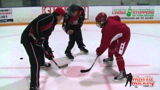 NHL Player Wayne Primeau shares tips to win face offs - Howtohockey.com