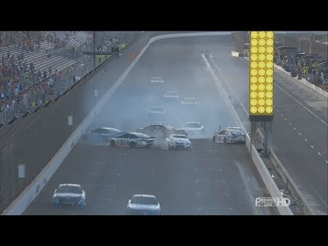 Monster Energy NASCAR Cup Series 2017. Indianapolis Motor Speedway. Restart Pile Up