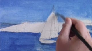 Oil Painting of a Sailboat Part 1