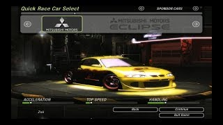 Need For Speed Underground 2 - All Official & Bonus Cars