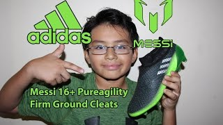 Unboxing of Messi 16+ Pureagility Firm Ground Cleats NEW Neon Green Grey