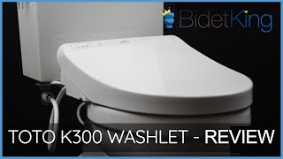 TOTO K300 SW3036 Washlet Bidet Toilet Seat Video Review | BidetKing.com