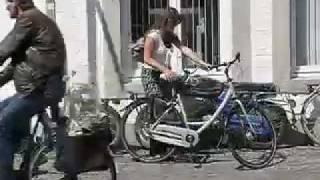 Bike in a kitenge-skirt