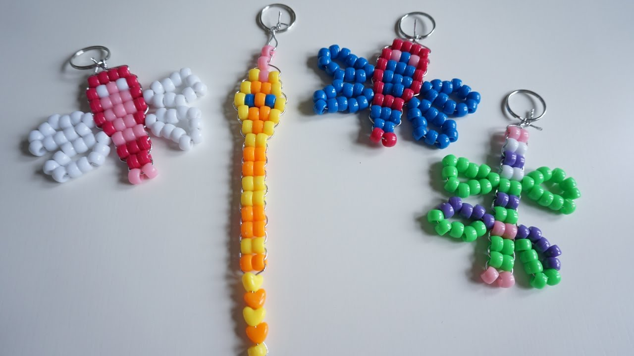 make key rings with beads and wire fun crafts youtube