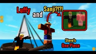 Trolling people as LUFFY and SANJI?!?! | Steve's One Piece | Roblox