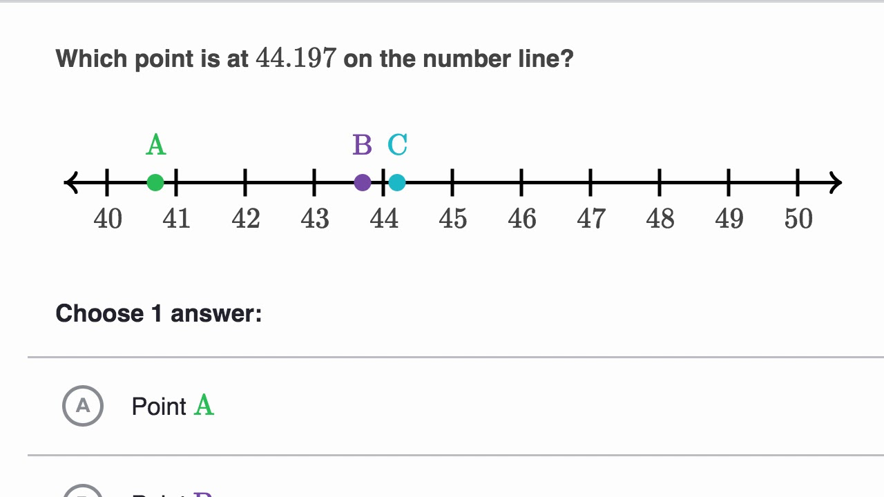 medium resolution of Rounding decimals on the number line - YouTube