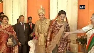 Vice President Naidu, LS Speaker Sumitra Mahajan attend wedding reception of IAS topper couple