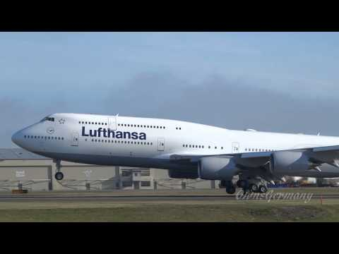 Lufthansa 747-8i Missed Approach Turns Into Beautiful Landing @ KPAE
