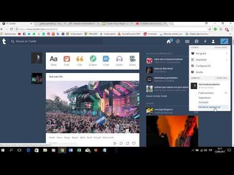 COMO PONER MUSICA EN TUMBLR (2018) FUNCIONA CORRECTAMENTE