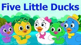 Five Little Ducks Song   Nursery Rhymes   Cartoon Video   Kids Music   Bottle Squad