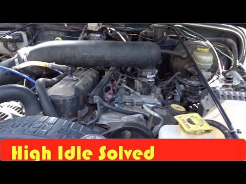 Jeep TJ High Idle Problem Solved - YouTube
