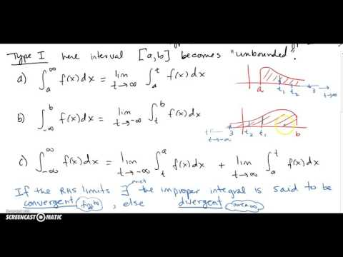 7.8 Improper Integrals Part 1 (Unbounded Interval)