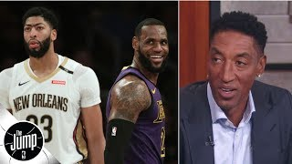 anthony davis makes the lakers a problem for the rest of the nba scottie pippen the jump