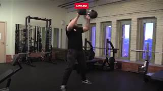 Бородач жонглирует 24-килограммовыми гирями