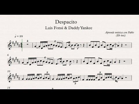 DESPACITO: Eb Inst (saxo alto, saxo barítono...)(partitura/playback)