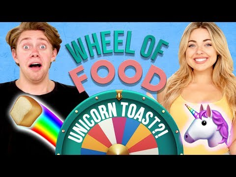 UNICORN TOAST CHALLENGE?! Wheel of Food w/ Madeleine Byrne & Jonah Green