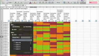 exporting from powerschool and using excel to analyze