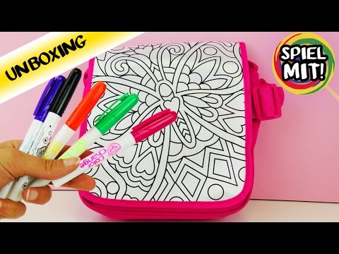 Tasche selber gestalten | Color me mine | Tolle bunte Umhängetasche bemalen  | Unboxing
