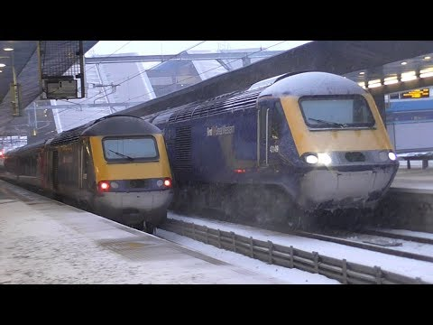 Trains at Reading in Heavy Snow - 02/03/18