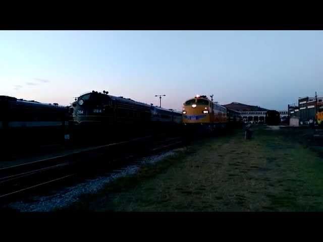 Union Pacific #949 moves the GM ElectroMotive Demonstrator #103, Streamliners at Spencer Event