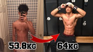MY NATURAL 1 YEAR BODY #TRANSFORMATION - Skinny to Muscle - (#MOTIVATION)