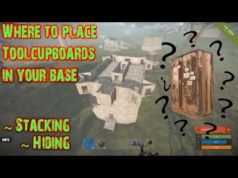 Rust Where to place your Tool cupboard in your base
