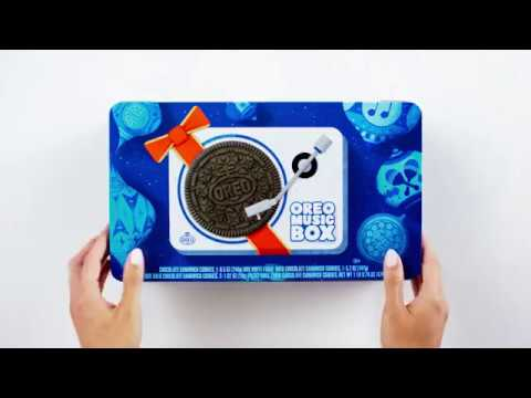 OREO MUSIC BOX | Cookie Record Player – Collectible Holiday Gift Tin Mp3