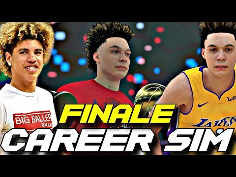 SIMULATING LAMELO BALL'S NBA CAREER IN NBA2K18!! FINALE!! BETTER THAN LONZO?!?