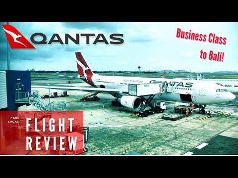 The Complete Qantas A330 Business Class Review - Sydney To Bali