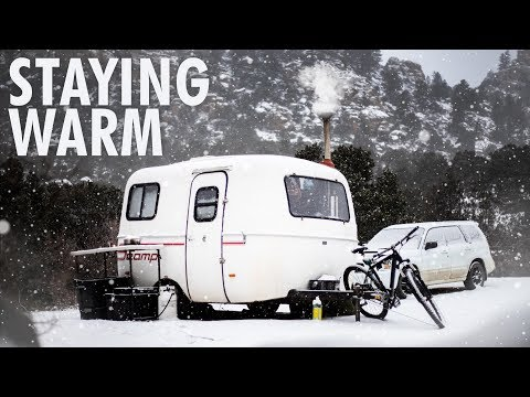Winter Day in the Scamp // 13ft Scamp Trailer