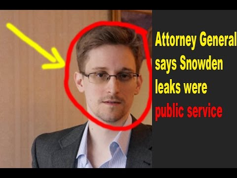 "Snowden leaks were ""public service,"" says former US Attorney General 