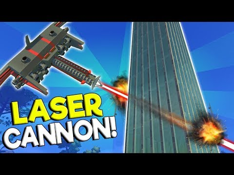 LASER ORBITAL CANNON DESTROYS SKYSCRAPER! - Scrap Mechanic Gameplay - Spud Gun Update