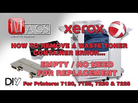 How To Remove/Empty Xerox Waste Toner Container (7120, 7125, 7220 & 7225)