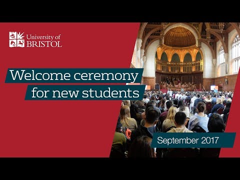 Welcome Ceremony for new undergraduate students
