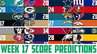 NFL Week 17 SCORE PREDICTIONS 2018 - NFL Picks Against the Spread WEEK 17 (NFL BETTING)