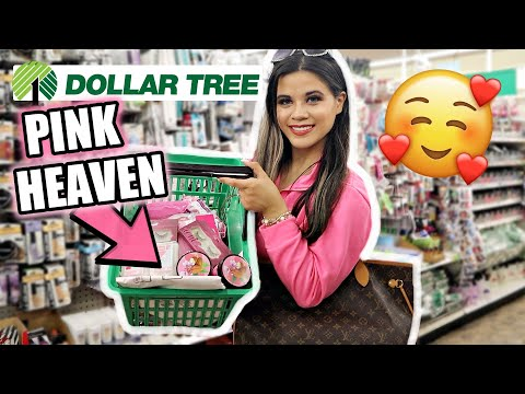 DOLLAR TREE PINK NO BUDGET SHOPPING SPREE *PINK HEAVEN*