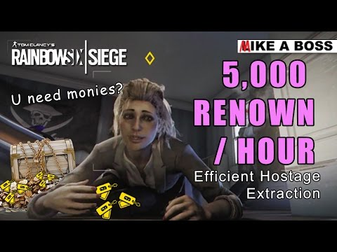 5,000 RENOWN PER HOUR - Renown Farming on Extract Hostage | Rainbow Six Siege