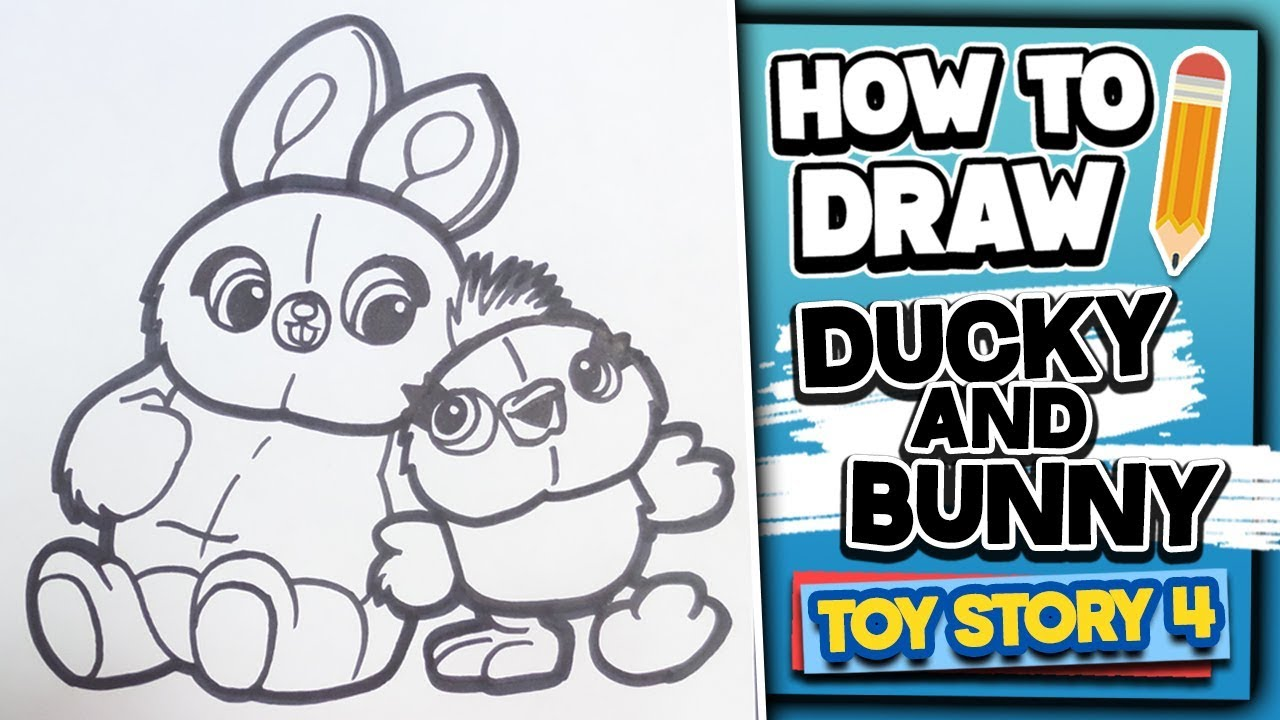How To Draw BUNNY AND DUCKY - Toy Story 4 // Disney ...