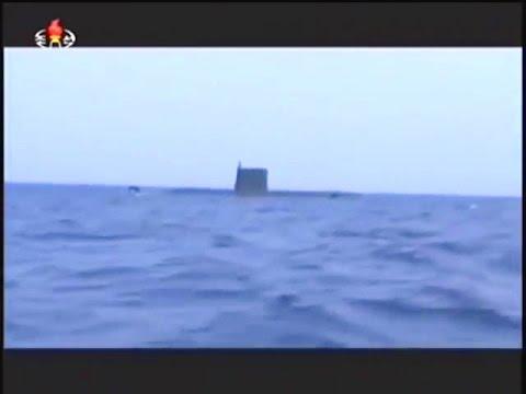 KCTV - North Korea Submarine Launched Ballistic Missile (SLBM) Test [480p]