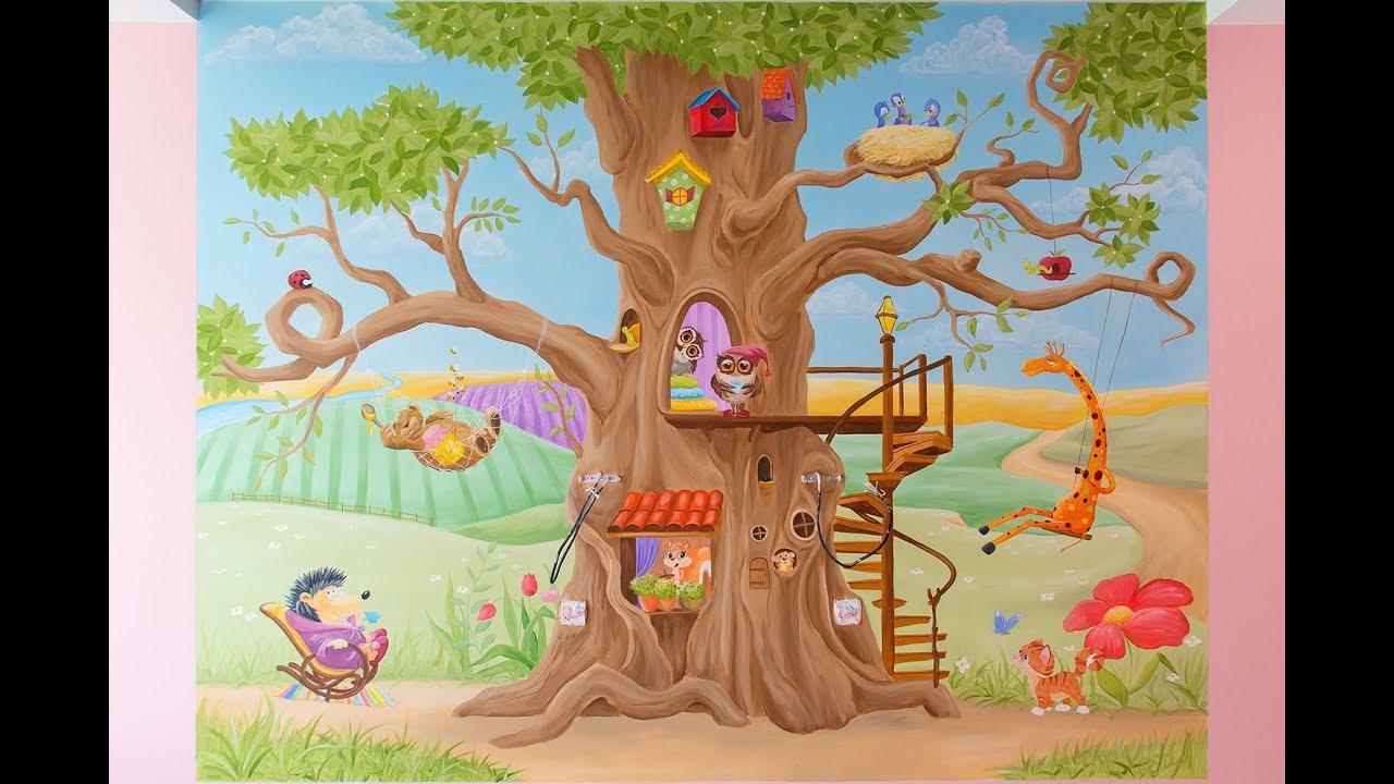 Рисунок сказочные деревья говорил