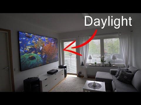Xiaomi 4K laser projector on ALR PET Crystal screen
