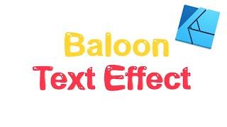 Beginner Balloon Text Effect Tutorial   Affinity Designer