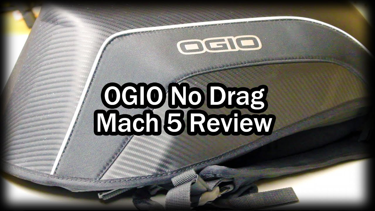 OGIO No Drag Mach 5 Stealth Motorcycle Backpack Review - YouTube