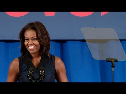 First Lady Michelle Obama Speaks at a Lets Move! Active Schools Event