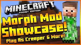Minecraft Pocket Edition | MOPRHING & DAMAGE INDICATOR MOD | Shapeshifter Mod Showcase