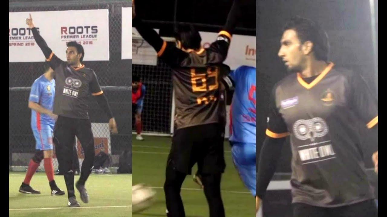 Ranveer Singh Playing Football At Roots Premier League 2018