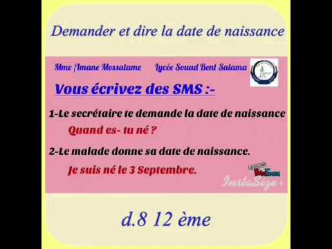 dossier8 des sms demander et dire la date de naissance youtube. Black Bedroom Furniture Sets. Home Design Ideas