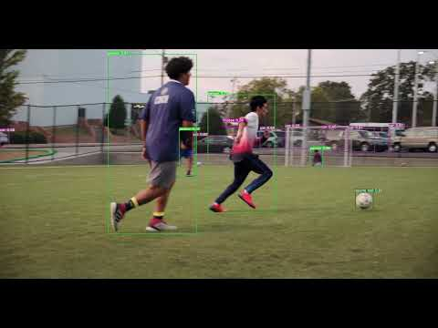 YOLO v5 初期状態でのサッカー練習風景の解析結果