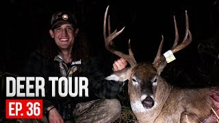 BOW HUNTING FROM THE GROUND! Iowa Public Land 8 Point - DEER TOUR  E36